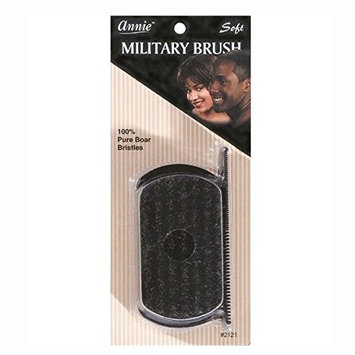 [Pack of 6] ANNIE SOFT MILITARY BRUSH 100% Pure Boar Bristles #2121 : Beauty