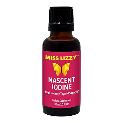 Miss Lizzy Nascent Iodine High Potency Thyroid Support for Energy, Focus and Metabolism - Liquid Drops for Best Absorption