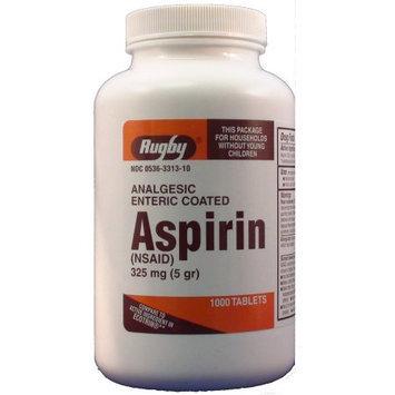 Watson Rugby Labs Aspirin 325 mg, Enteric Coatd, 1000 Tablets, Watson Rugby
