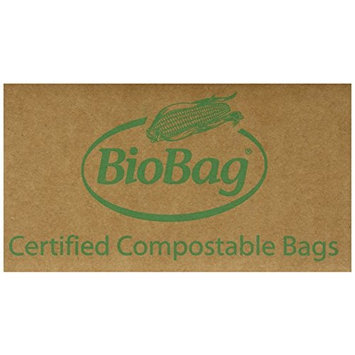 BioBag, The Original Compostable Bag, Kitchen Food Scrap Bags, ASTMD6400 Certified 100% Compostable Bags, Biodegradable Products Institute & VINCOTTE OK HOME Certified, Non GMO, 3 Gallon, 100 Count [3 Gallon]