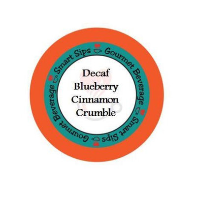 Smart Sips DECBLUCINN24 Decaf Blueberry Cinnamon Crumble Coffee for All Keurig K-cup Brewers 24 Count