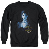 BATMAN AA/ARKHAM POISON IVY - ADULT CREWNECK SWEATSHIRT - BLACK - SM