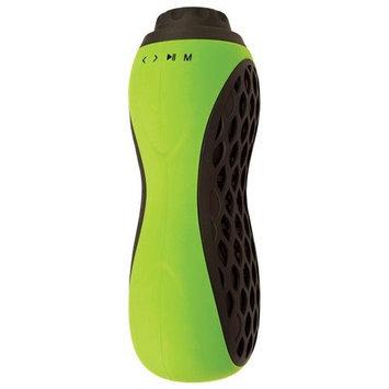 Iwerkz Bottle Blaster - Portable, Rechargeable Bluetooth Bike Speaker w/ MicroSD Card Slot, AUX Input - Lime Green
