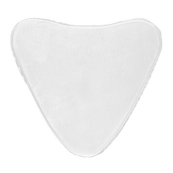 Dovewill Ladies Fashion Anti-Wrinkle Chest Silicone Convenient Reusable Pad of 3 Styles - Triangular Transparent