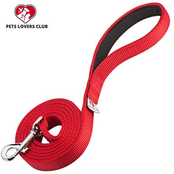 Pets Lovers Club Heavy Duty Dog Leash - Super Comfortable Padded Handle For Walks - Very Durable Leashes For Training Large, Medium & Small Dogs - Excellent 6 Foot Length To Hold On Puppy That Pulls