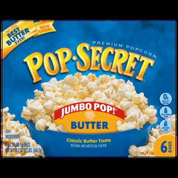 Snyders-lance Pop Secret Microwave Popcorn, Jumbo Pop Butter, 6 Pack Box