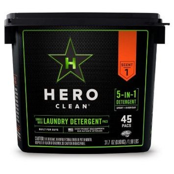 Hero Clean Laundry Detergent Pacs - 45ct