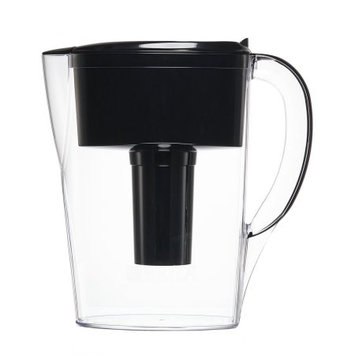 Clorox Brita Space Saver Water Filtration Pitcher 6 cup, Black