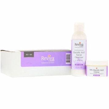 Reviva Labs 10 Glycolic Acid Creme Glycolic Acid Facial Cleanser 2 Piece Bundle