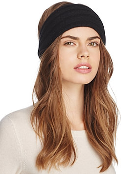 C by Bloomingdale's Ribbed Cashmere Headband - 100% Exclusive