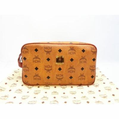 Brown Cognac Monogram Visetos Cosmetic Toiletries Case 231204 Wallet