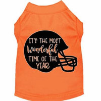 Most Wonderful Time Of The Year (football) Screen Print Dog Shirt Orange Xxxl