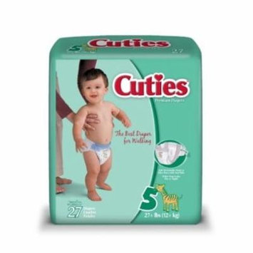 Cuties Diaper, Size 5, Heavy Absorbency, Disposable, CR5001 - Pack of 27