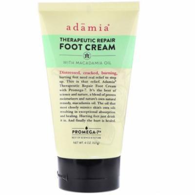 Adamia Therapeutic Repair Foot Cream with Macadamia Oil 4 oz 127 g