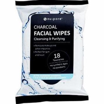 Nu-Pore Charcoal Facial Wipes 18ct. Bulk case of 24 units