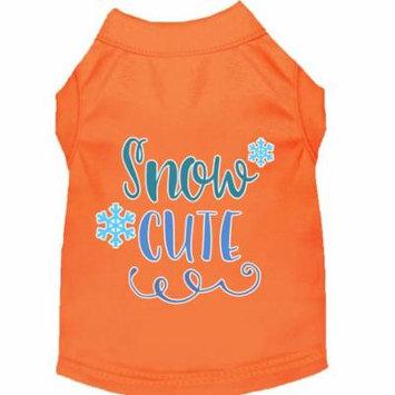 Snow Cute Screen Print Dog Shirt Orange Xxxl