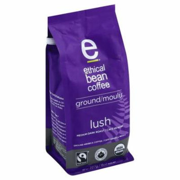 Ethical Bean Coffee Med Drk Grnd Lush,8Oz (Pack Of 6)