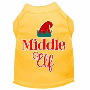 Middle Elf Screen Print Dog Shirt Yellow Sm