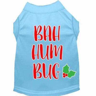 Bah Humbug Screen Print Dog Shirt Baby Blue Xxl
