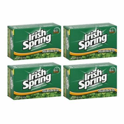 Irish Spring Deodorant Bath Bar, Original, 3.75 oz, 4 Pack