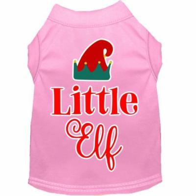 Little Elf Screen Print Dog Shirt Light Pink Xxxl