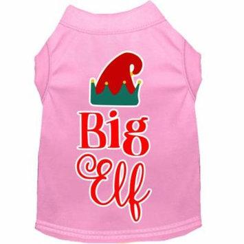 Big Elf Screen Print Dog Shirt Light Pink Xl