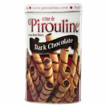 Creme de Pirouline Dark Chocolate Artisan Rolled Wafers 14 oz Tins - Single Pack