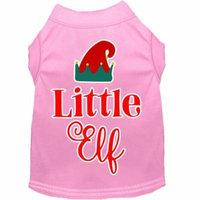 Little Elf Screen Print Dog Shirt Light Pink Xxl