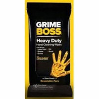1 PACK OF 10 Grime Boss Heavy Duty Hand Cleaning Wipes 10 total RESEALBLE