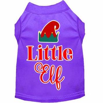 Little Elf Screen Print Dog Shirt Purple Sm