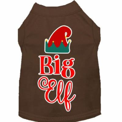 Big Elf Screen Print Dog Shirt Brown Xxl