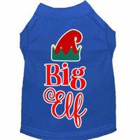 Big Elf Screen Print Dog Shirt Blue Xxxl