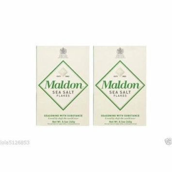 Maldon Sea Salt Flakes, 8.5 ounce Boxes Pack of 2
