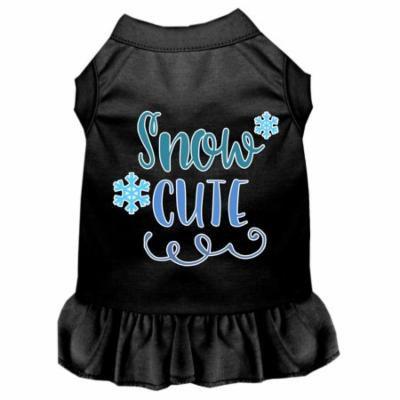 Snow Cute Screen Print Dog Dress Black Xxl
