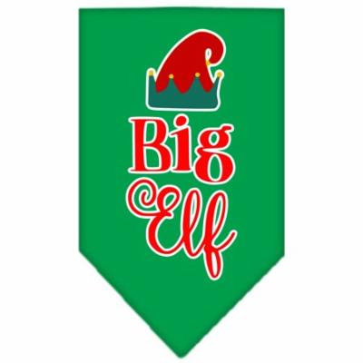 Big Elf Screen Print Bandana Emerald Green Large