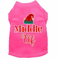 Middle Elf Screen Print Dog Shirt Bright Pink Xs