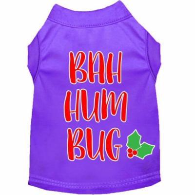 Bah Humbug Screen Print Dog Shirt Purple Xxxl