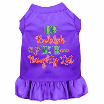 Hope Rudolph Eats Naughty List Screen Print Dog Dress Purple Xl