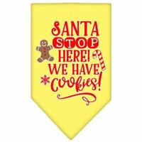 Santa, We Have Cookies Screen Print Bandana Yellow Large