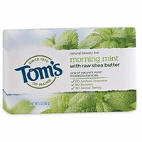 6 Pack - Tom's of Maine Natural Beauty Bar Soap with Raw Shea Butter, Mint, 5 oz