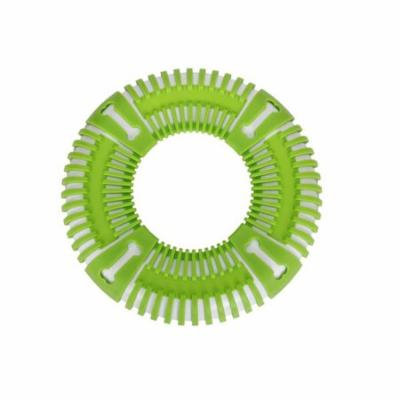 Flex Bark Flexible Frisbee Fetch Dog Toy, Green - One Size