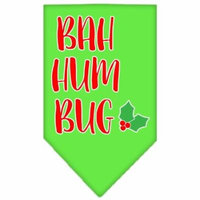 Bah Humbug Screen Print Bandana Lime Green Large