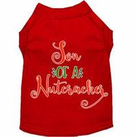 Son Of A Nutcracker Screen Print Dog Shirt Red Xl