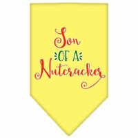 Son Of A Nutcracker Screen Print Bandana Yellow Large
