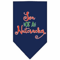 Son Of A Nutcracker Screen Print Bandana Navy Blue Large