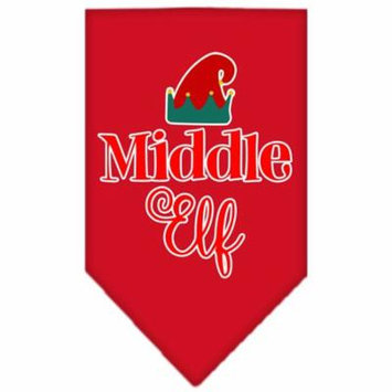 Middle Elf Screen Print Bandana Red Large