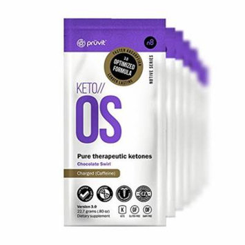 KETO//OS Chocolate Swirl CHARGED (15 Sachets) Energy Boost, Promotes Weight Loss and Burn Fats through Ketosis