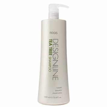 Tea Tree Shampoo, 33.8 oz - DESIGNLINE - Helps Invigorate and Rehydrate Dry, Sensitive Scalps and Balances Hair and Scalp Oil for Shine, Softness, and Manageability.