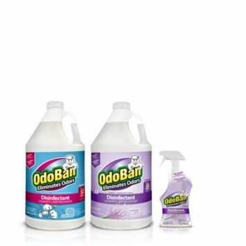 OdoBan Disinfectant Odor Eliminator Ready-to-Use 32oz Spray Bottle and 1 Gal Concentrate, Lavender Scent, Plus 1 Gal Concentrate, Cotton Breeze Scent