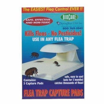 Springstar S103 Traps Biocare Flea Trap Capture Pads, 2 Packs of 3 Pads Per Box,